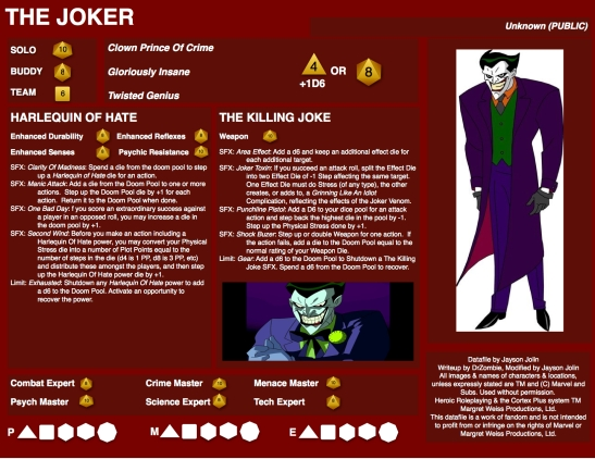 Joker Datafile